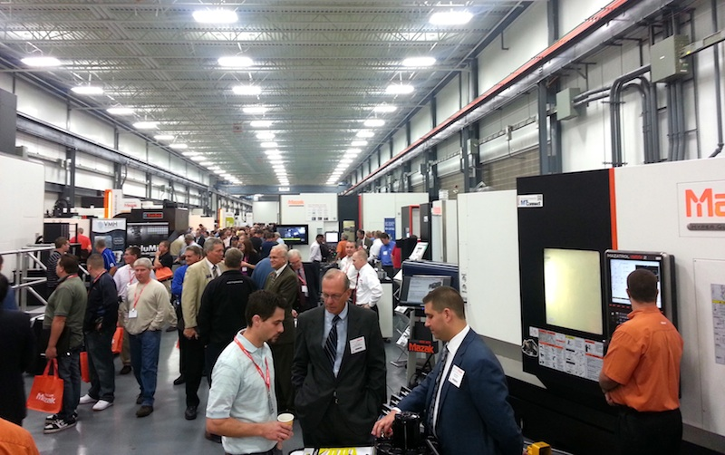 Manufacturers from across the United States, Canada, Mexico and Latin America gathered at Mazak's North American Manufacturing Headquarters in Florence, Kentucky for DISCOVER 2013.