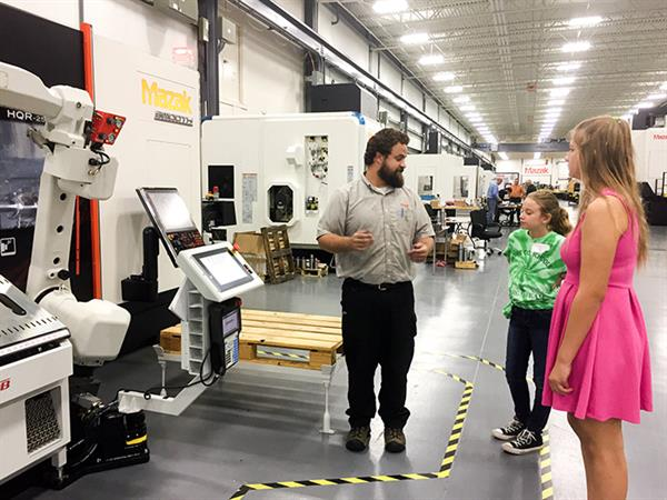 """Mazak Hosts Students for """"Making it Real–Girls"""