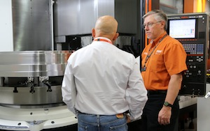 In addition to education, live cutting demonstrations took place on more than 30 different Mazak machines including Mazak's new VERTICAL CENTER UNIVERSAL 300, 400 and 500 Vertical Machining Centers.