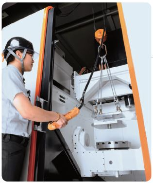 convenient workpiece loading/unloading